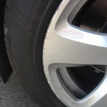アルミホイール ガリ傷 再び BMW E61 525i