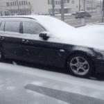 大雪 と スタッドレス BMW E61 525i