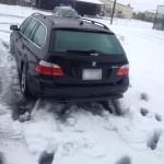 大雪 再び BMW E61 525i