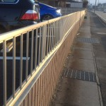 物損事故 フェンスの修理代 BMW E61 525i