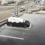 初雪!積雪! スタッドレス!! BMW E61 525i
